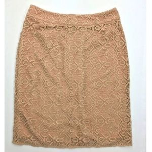 Alice by Temperly Blush Peach Lace Skirt
